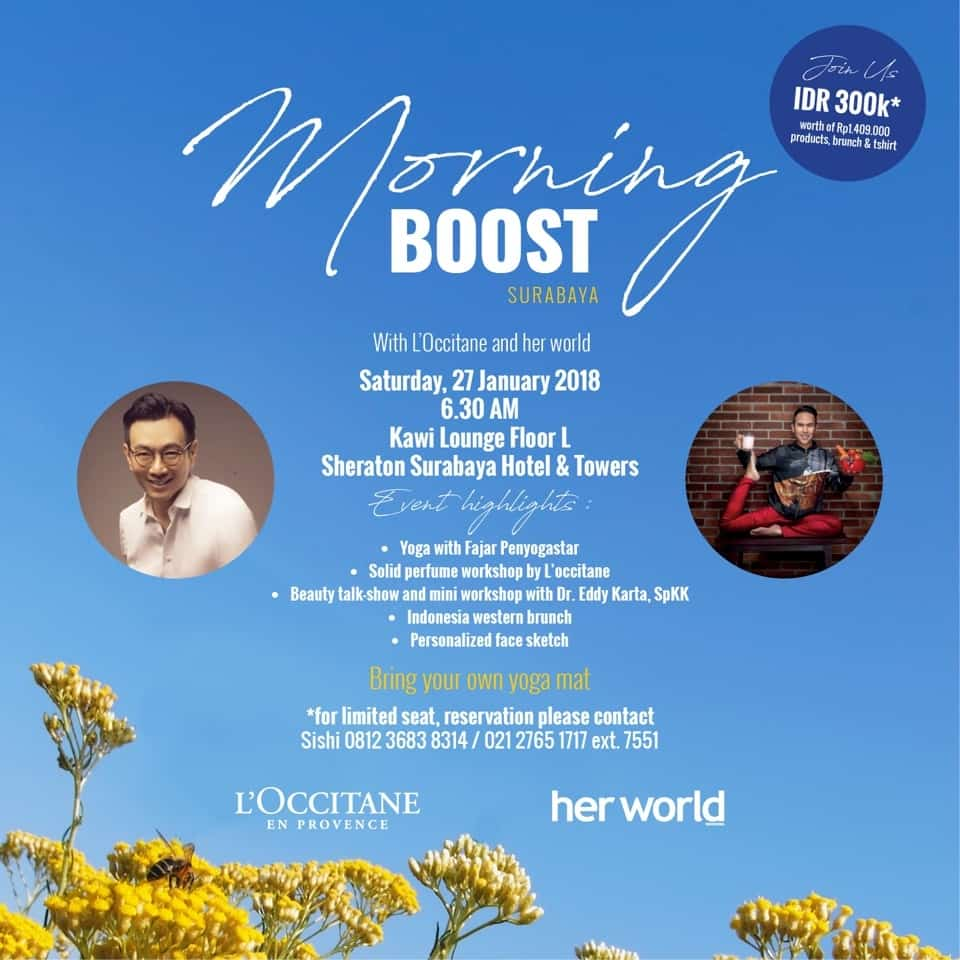 Morning Boost with L'Occitane and her world Indonesia