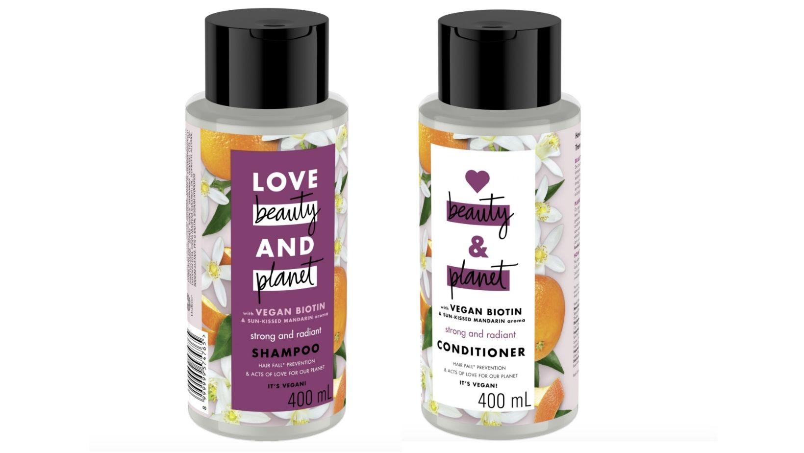 Love Beauty and Planet Vegan Biotin Anti Hair Fall Shampoo & Conditioner.