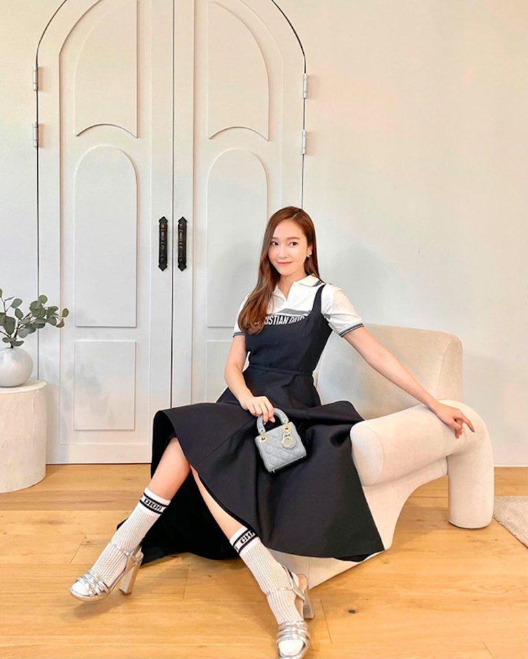 ide busana hitam dari selebriti korea