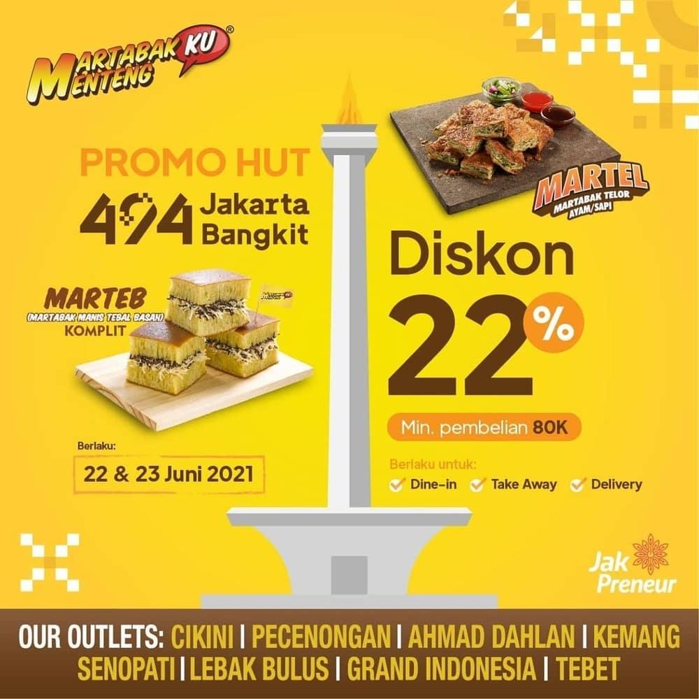 Daftar Promo HUT DKI Jakarta ke-494 Hingga Akhir Juni 2021