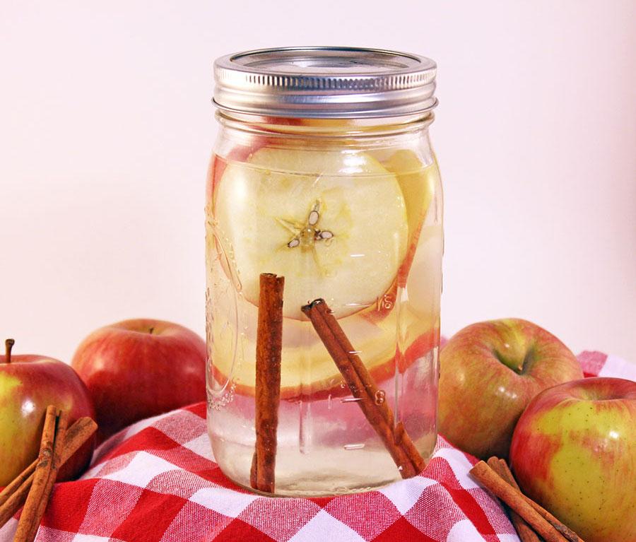 Perut Rata dengan Apple Cinnamon Detox Water