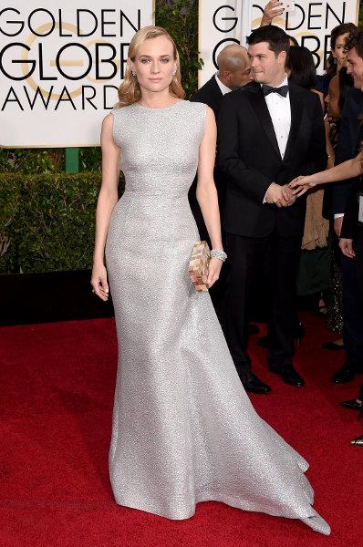 We love: Diane Kruger Red Carpet Golden Globes 2015