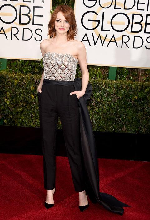 We love: Emma Stone Red Carpet Golden Globes 2015