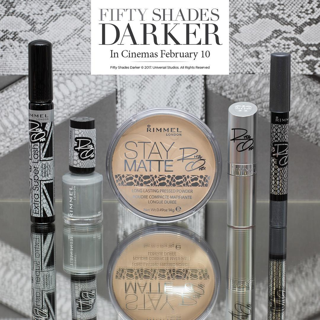 Rimmel London Luncurkan Kosmetik Fifty Shades Darker