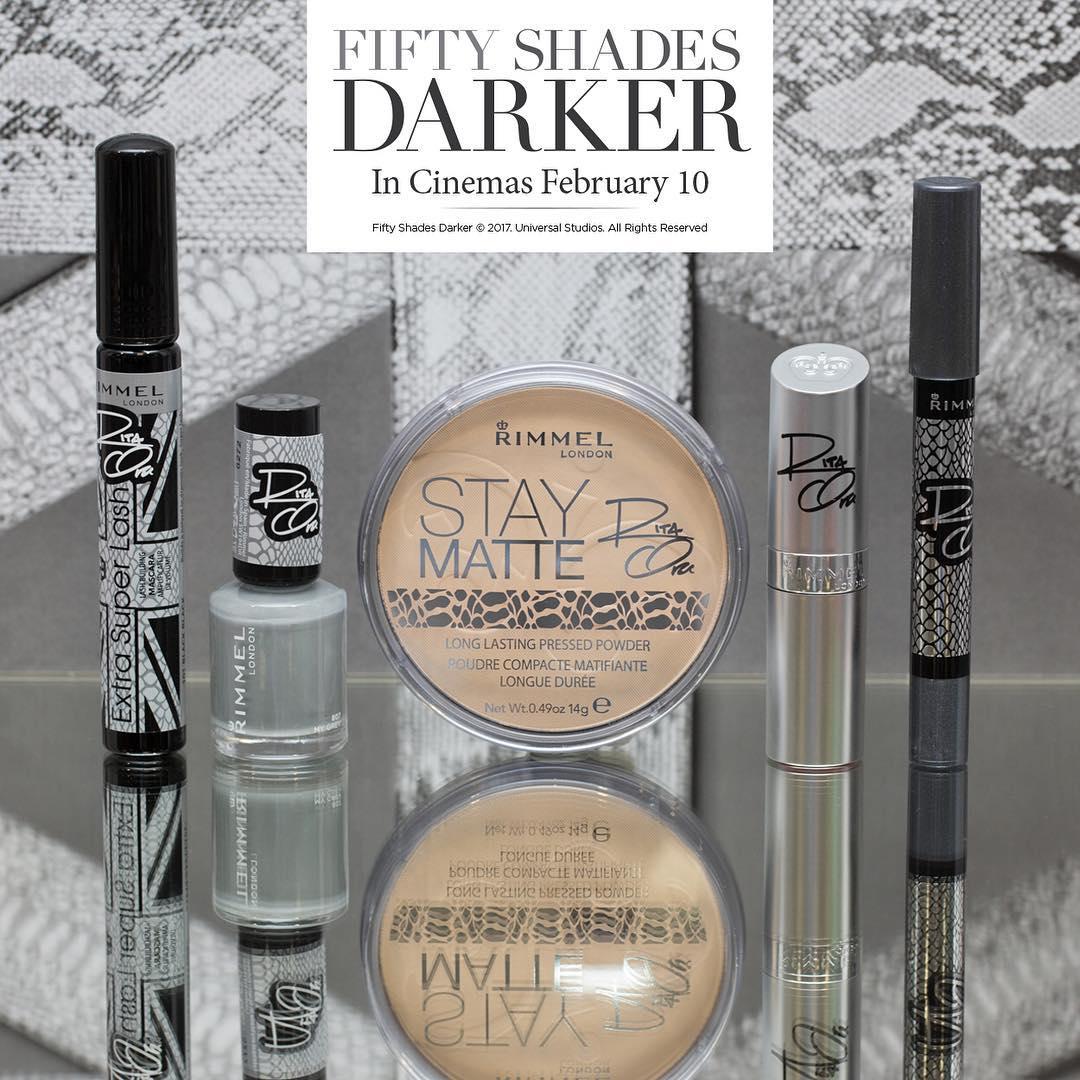 Rimmel London Luncurkan Kosmetik Fifty Shades Darker