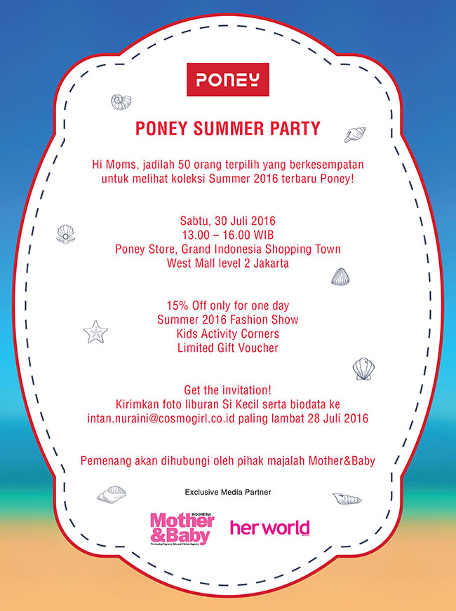 PONEY SUMMER PARTY