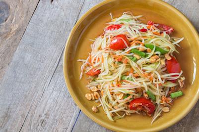 Cara Membuat Salad Pepaya Thailand