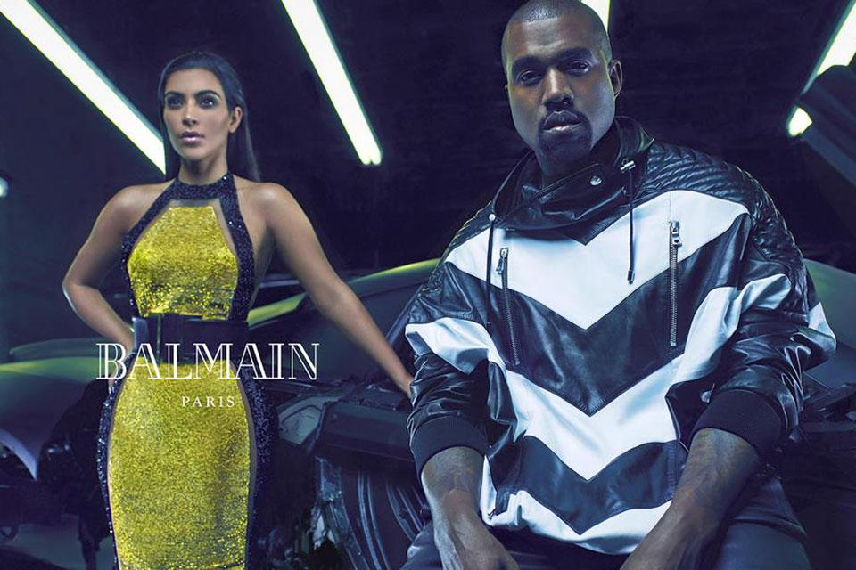 Kim Kardashian dan Kanye West Wajah Baru untuk Balmain