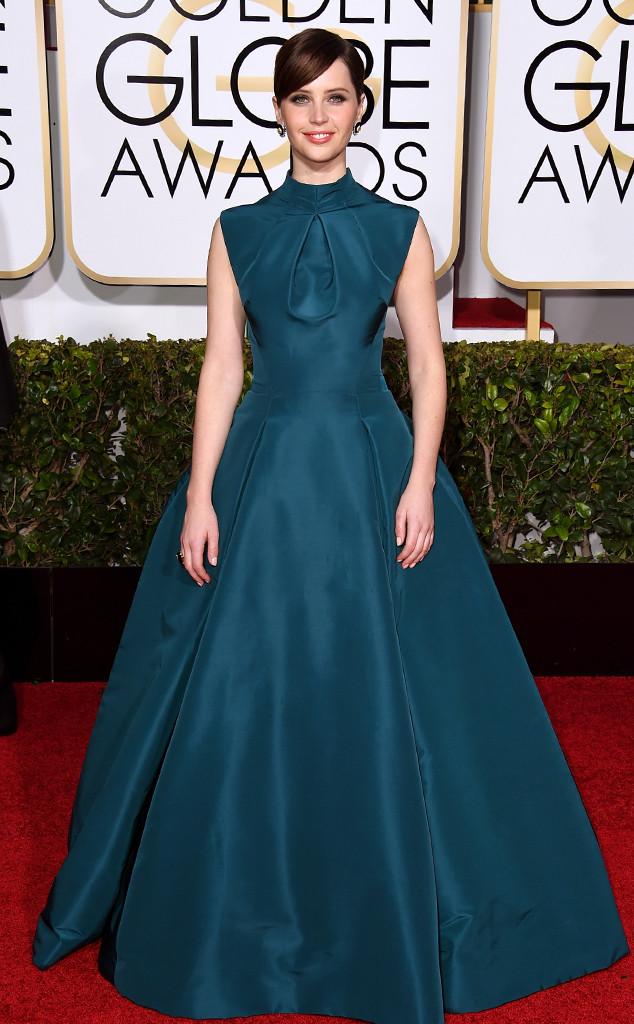 We Love: Felicity Jones Golden Globes 2015 Red Carpet