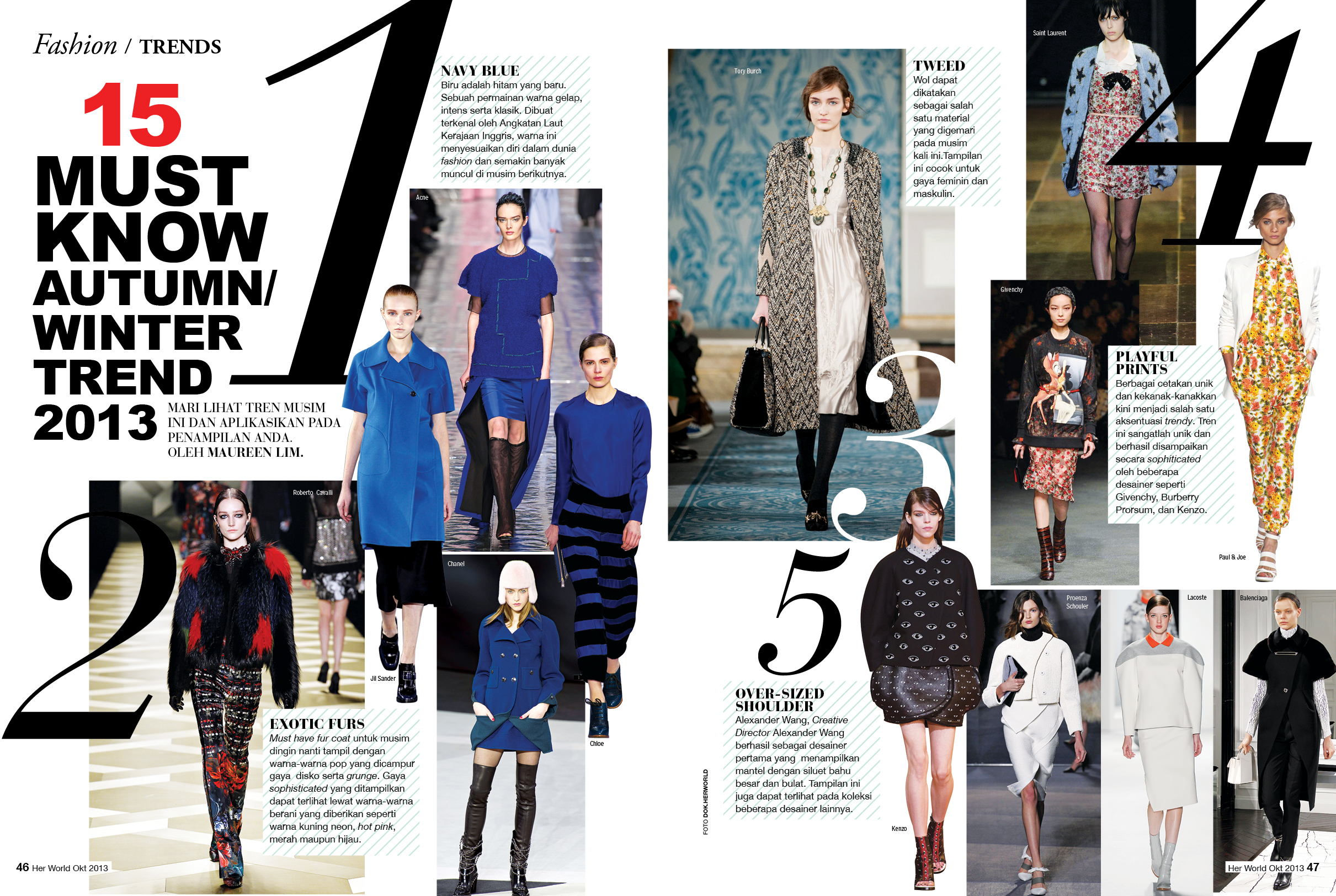 15 MUST KNOW AUTUMN / WINTER TREND 2013