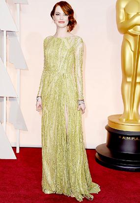 We Love: Emma Stone Academy Awards 2015 Red Carpet