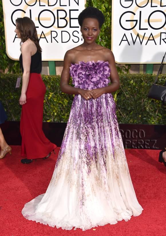 We love: Lupita Nyong'o Red Carpet Golden Globes 2015