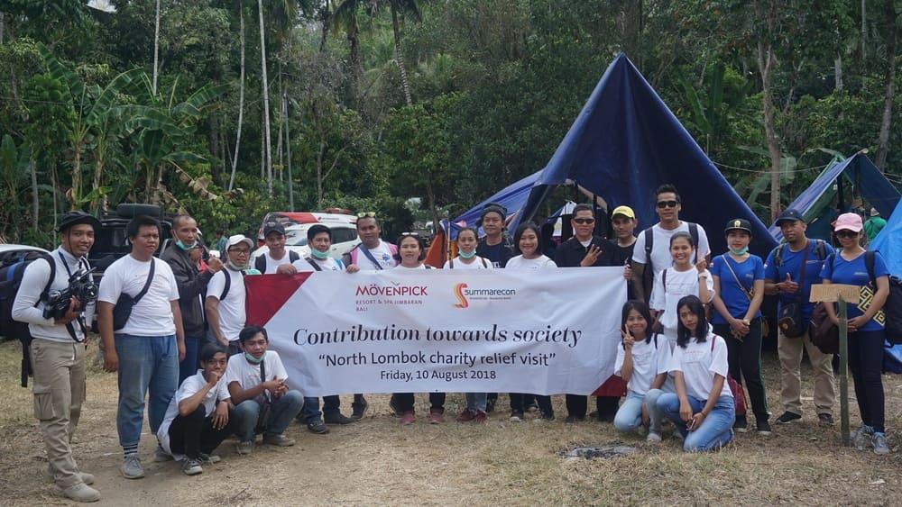 Aksi Peduli Lombok Movenpick Resort & Spa Jimbaran Bali