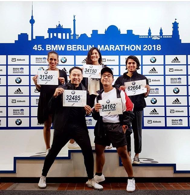 Dian Sastro dan Sukses 'Berlin Marathon' Pertamanya