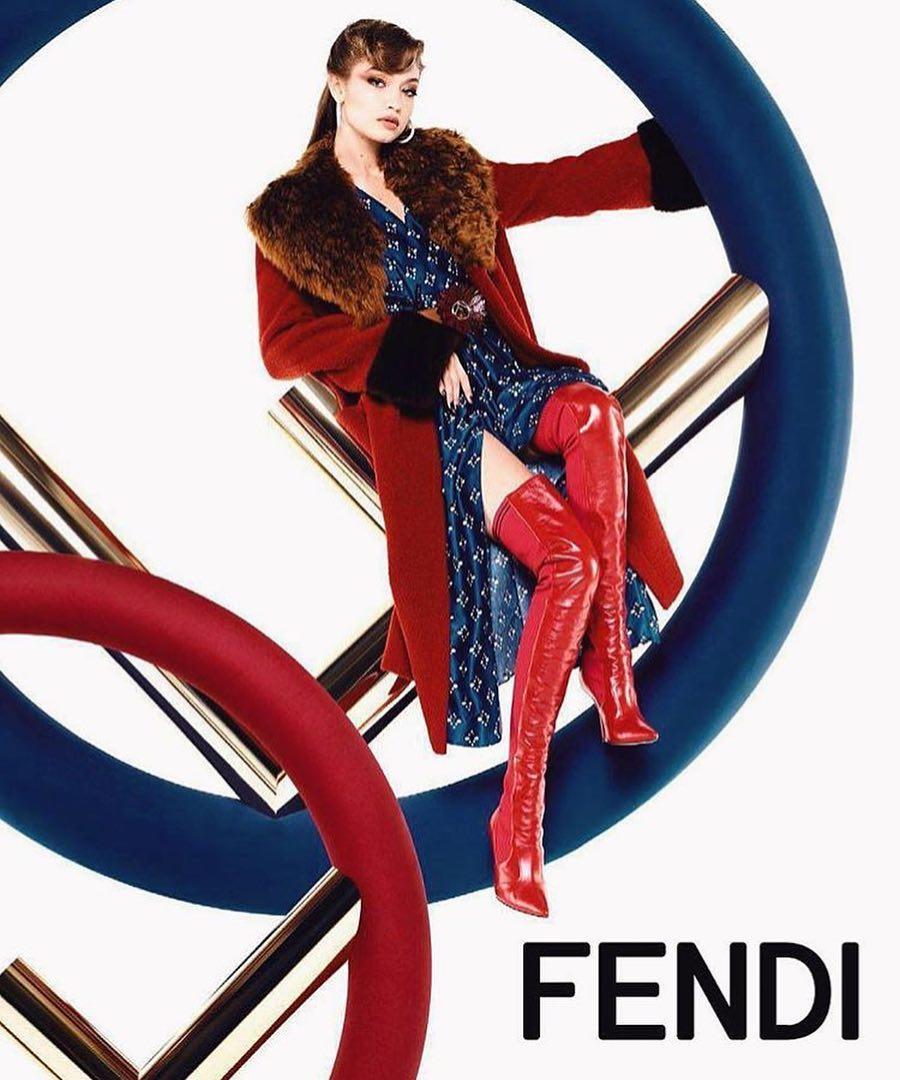 Gigi Hadid dan Kendall Jenner Bintangi Kampanye Fendi