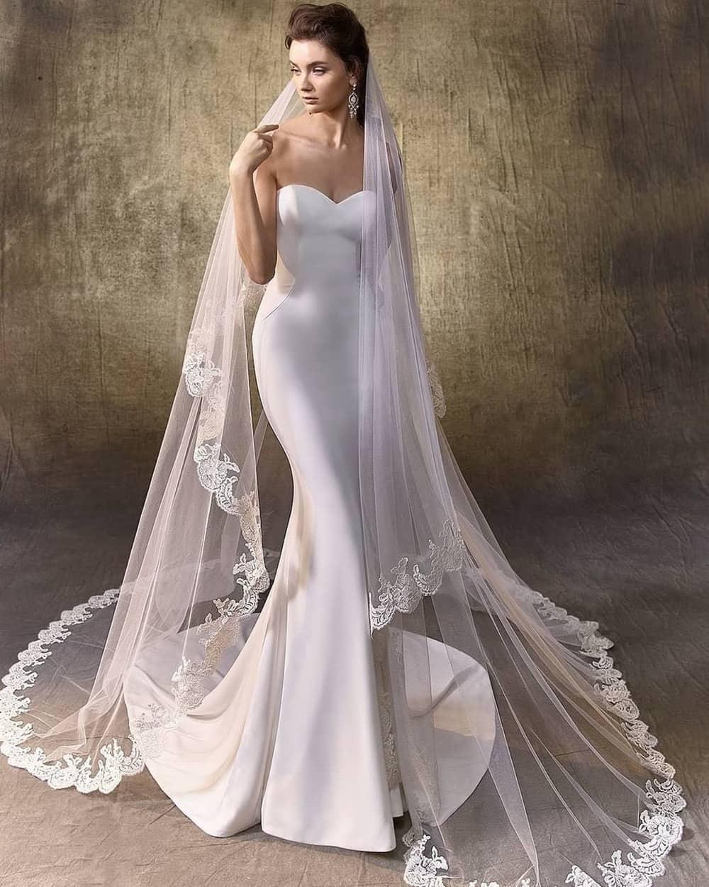 Inspirasi Wedding Veil Panjang untuk Pengantin Wanita