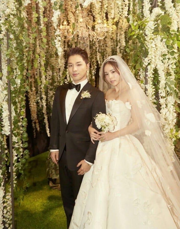 Intip Pernikahan Taeyang dan Min Hyo Rin