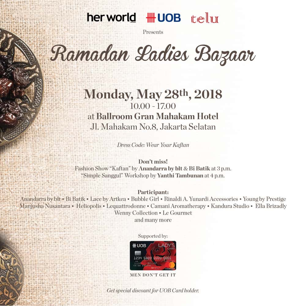 Jangan Sampai Kelewatan! Ladies Bazaar Ramadan nan Seru