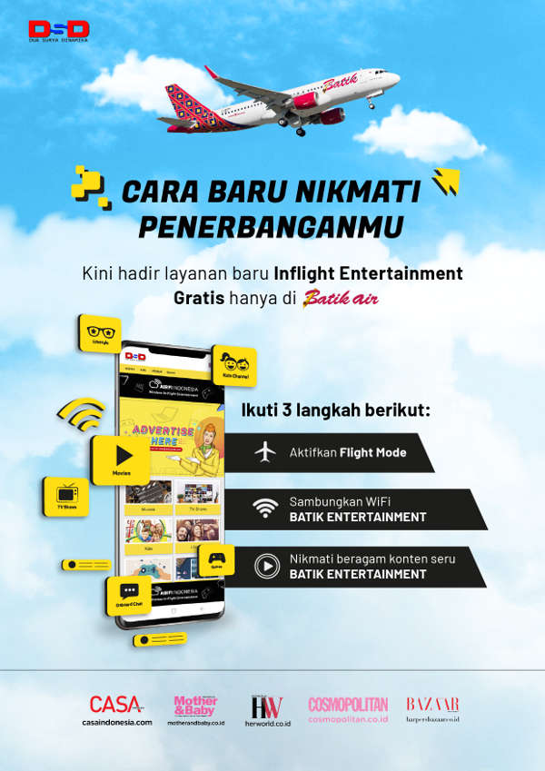 InFlight Entertainment - Cara Baru Menikmati Penerbanganmu