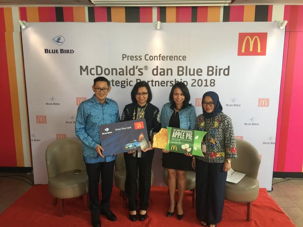 McDonald's Indonesia Bekerjasama Dengan Blue Bird