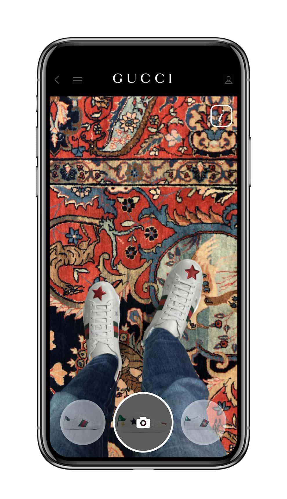 Mencobai Sneaker Ace Lewat Fitur 'Try On' di Gucci App