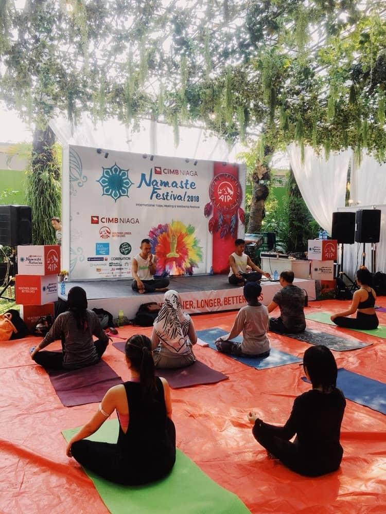 Menularkan Gaya Hidup Sehat di Namaste Festival 2018