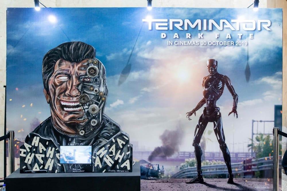 Naufal Abshar Bikin Instalasi 'Terminator Dark Fate'