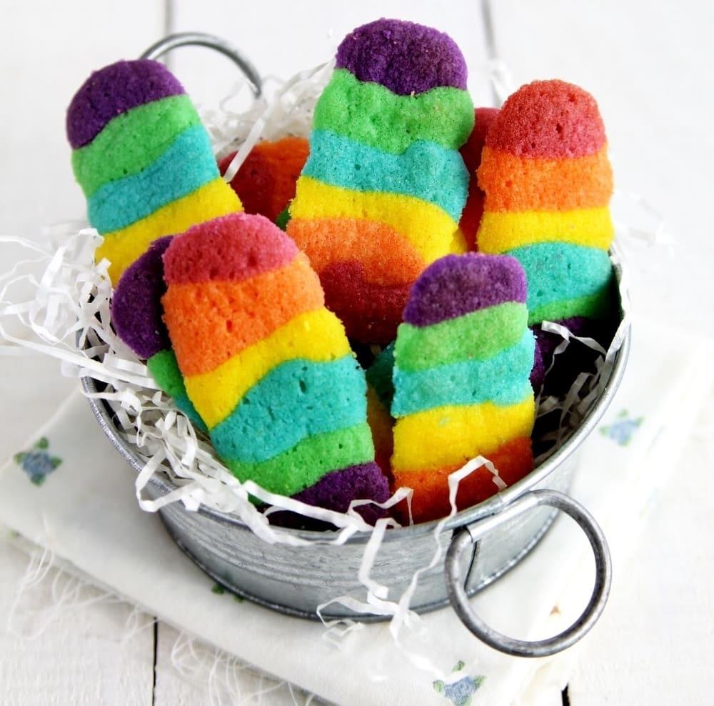 Resep Kue Kering Lidah Kucing Rainbow Untuk Lebaran
