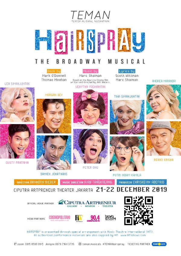 TEMAN hadir  dalam Hairspray The Broadway Musical