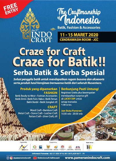 The 17th Indocraft - Craze for Batik !!