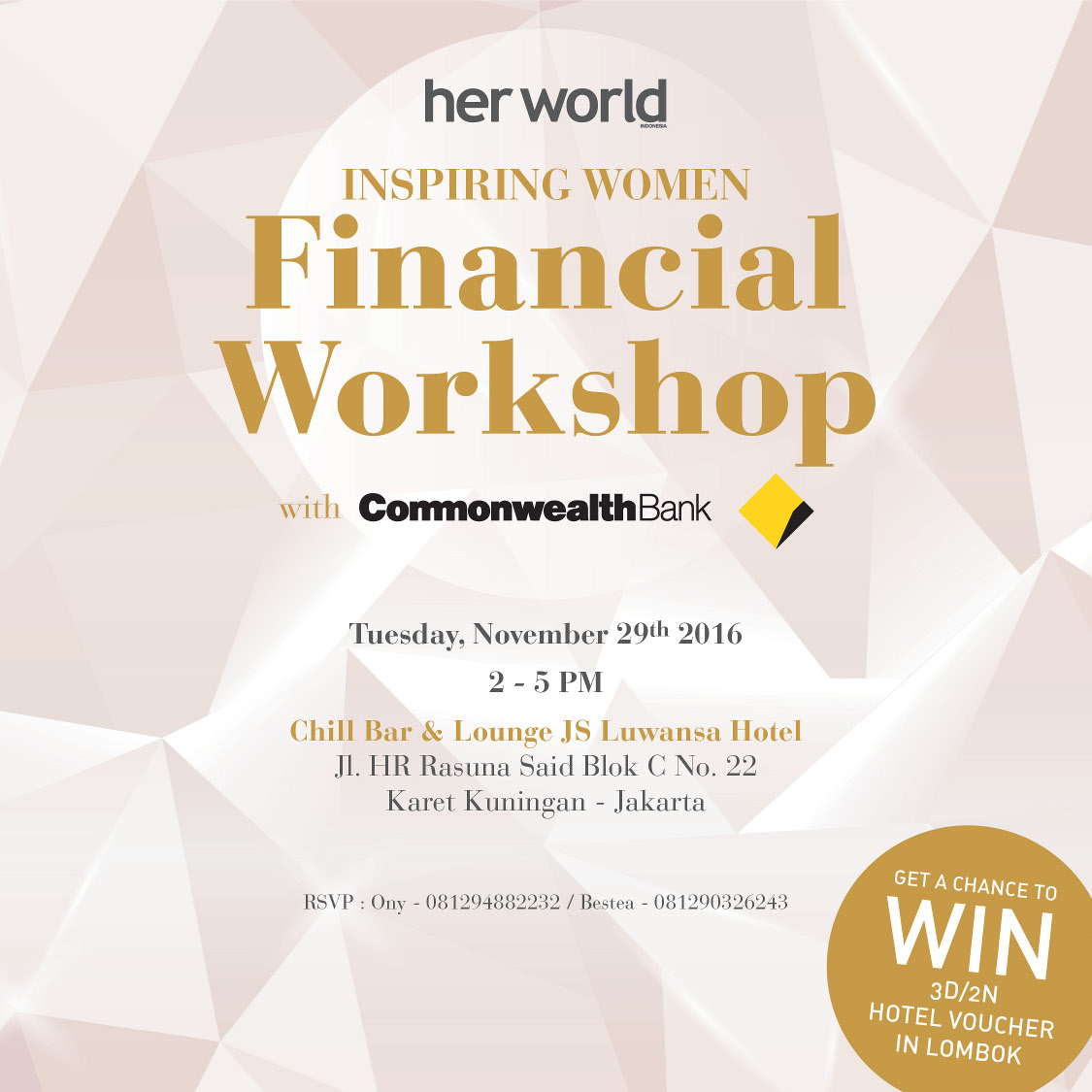 Financial Workshop with Commonwealth Bank