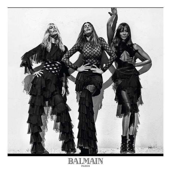 Kembalinya Supermodel di Kampanye Iklan Terbaru Balmain