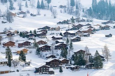 Suasana Natal di Interlaken, Swiss