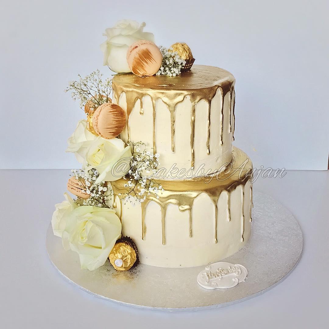 20 Kue Pernikahan Bernuansa Emas Uzone