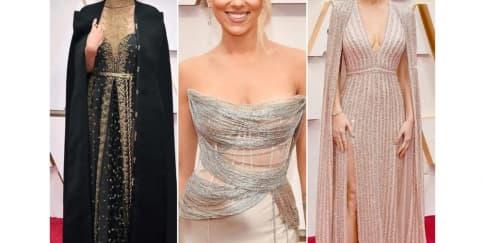 12 Busana Seleb Yang Elegan Di Karpet Merah Oscar 2020