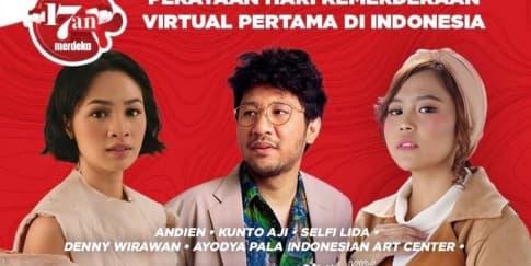 Perayaan HUT RI Yang Ke-75 Virtual Pertama di Indonesia