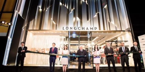 Gerai Flagship Longchamp Tiba di Shanghai