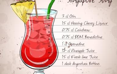Cara Membuat Cocktail Singapore Sling