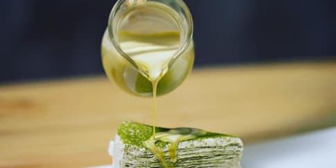 Cara Membuat Saus Teh Hijau untuk Dessert