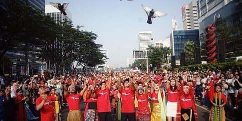 Gegap Gempita Perayaan 'Tunjukkan IndonesiaMu!'