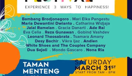 Happiness Festival 2018; Experience 3 ways to Happiness