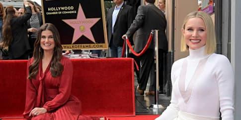 Idina Menzel & Kristen Bell Di 'Hollywood Walk of Fame'