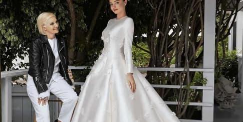 Intip Proses Pembuatan Gaun Pengantin Miranda Kerr