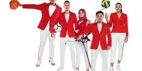 Merah-Putih Seragam Resmi Tim Indonesia di Asian Games