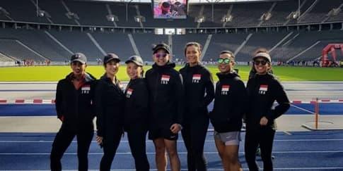 Pertemanan Sehat 'Lari untuk Lombok' di Berlin Marathon
