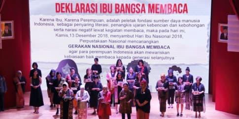 Ramaikan Hari Ibu dengan Gerakan 'Ibu Bangsa Membaca'
