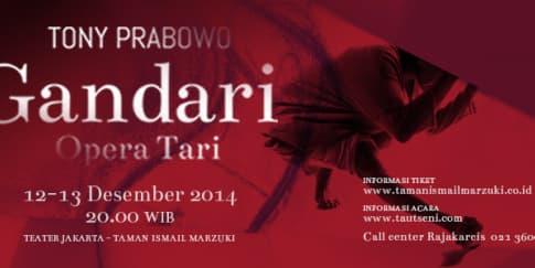 Opera Tari Gandari Siap Digelar di Jakarta