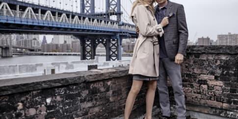David Duchovny dan Martha Hunt untuk London Fog