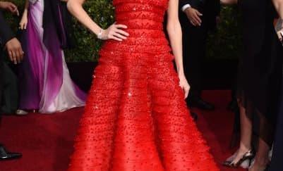 We love: Allison Williams Red Carpet Golden Globes 2015