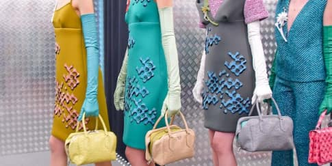 Dominasi Warna Pastel di Prada Fall Winter 2015